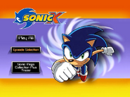 Sonic X Volume 1 AUS main menu