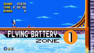 Flying Battery Zone Mania Card