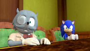 Professor Cluckins and Sonic