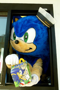 Sega happy meal window