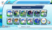 Mario Sonic Olympic Winter Games Event Select 2