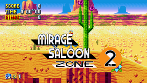 Mirage Saloon Sonic Mania Card