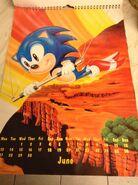 Sonic 1994 Official Calendar EU Jun