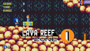 Lava Reef Zone Sonic Mania Card