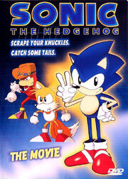 Sonic The Hedgehog- The Movie DVD box art