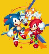 Sonic Mania key art no logo