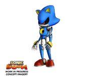 Boceto de Metal Sonic en progreso