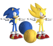 Forces Model Sonic Super Sonic