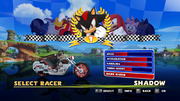 Sonic and Sega All Stars Racing character select 17