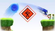 Bottomless Pit warning in Sonic Generations