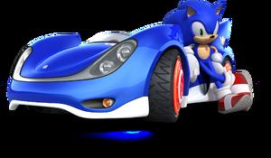 Sonic en Sonic & SEGA All Stars Racing