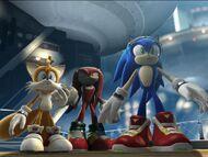 Sonic y los demás sorprendidos