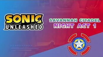 Savannah Citadel Night Act 1 - Sonic Unleashed