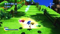 Sonic using Super Sonic Skill