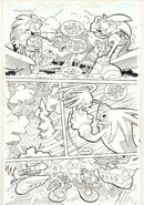 Sonic the Hedgehog -164 p.4 Sonic Riders Pt. 2 Knuckles 06 art by Tracy Yardley!