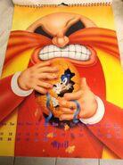 Sonic 1994 Official Calendar EU Apr
