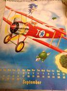 Sonic 1994 Official Calendar EU Sep