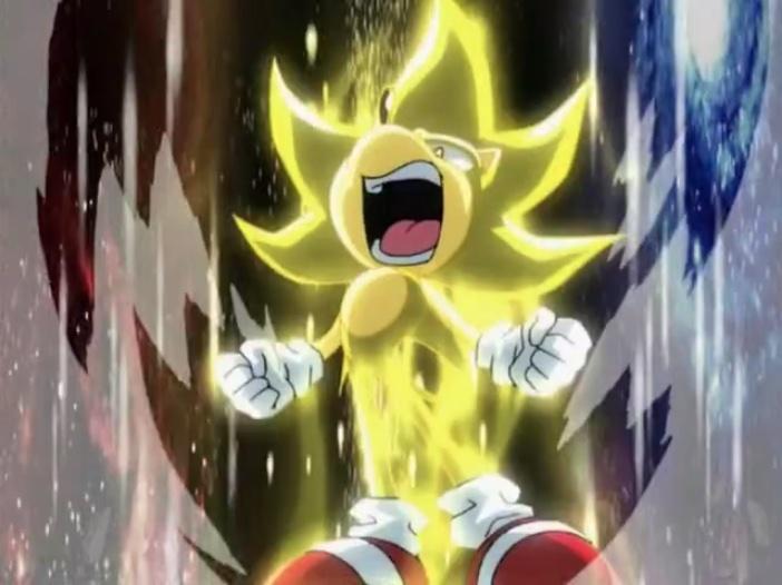 Super Sonic yelled