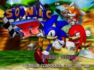 Sonic R title screen