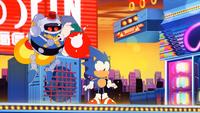 Sonic Mania Opening - Heavy Gunner Attack