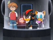 Sonic X Station Break In Group Rouge Shadow Chris