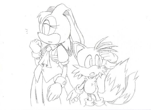 File:Vanilla Tails Sonic advance 2 ending SonicX concept art.jpg