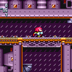 Knuckles en Flying Battery.