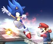 Smash Brawl Sonic vs Mario