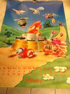 Sonic 1994 Official Calendar EU Feb