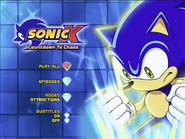 Sonic X Countdown to Chaos DVD Menu