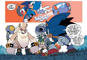 IDW 13 Rough i Tumble vs Sonic