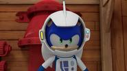Sonic spacesuit