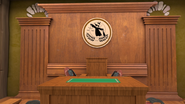 S1E17 Judge podium