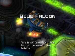 Blue flacon