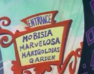 Entrada do jardim das Mobisia Marvelosa Marigoldias