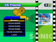Sonic Heroes theater