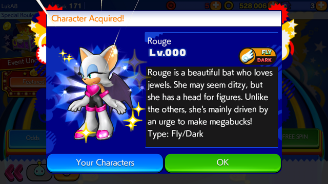File:Sonic Runners Rouge unlocked.png