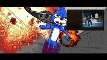 SONIC MOVIE storyboard Portal Chase