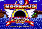 Motobug the Badnik in Sonic 1 title screen