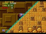 Sonic The Hedgehog 1 - Labyrinth Zone - Slipping