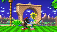 Sonic and Shadow in Green Hill Zonne (SSBU)