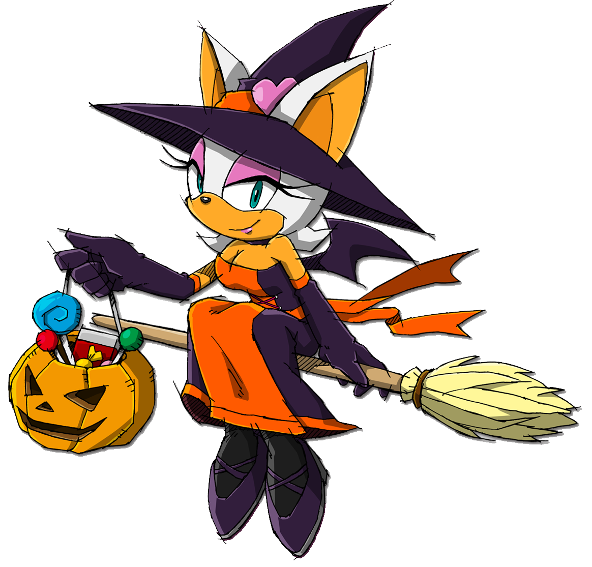image - rouge halloween sonic channel | sonic news network