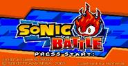 Sonic Battle title screen
