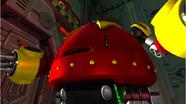 El Death Egg Robot saliendo a luchar