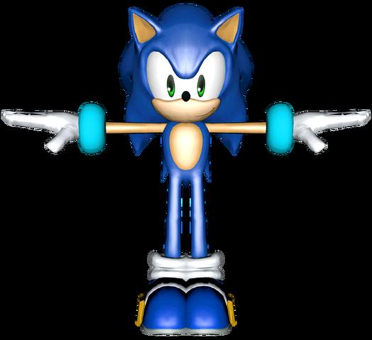 File:Smash Bros Wii U Sonic Alt Costume Model 2.png