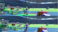 Mario & Sonic at the Rio 2016 Olympic Games - Javelin Throw Metal Sonic VS Waluigi