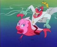 Warpnik on fish