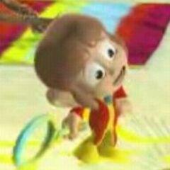 Alex Kidd como se ve en Sega Superstars Tennis.