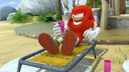 SB S1E14 Knuckles relaxing