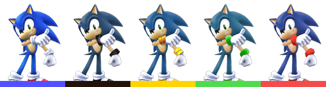 Smash Brawl Pallete Sonic